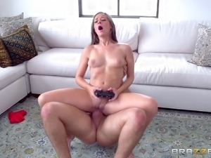 Couple plays video games and have anal sex at the same time