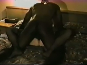 What a nice black guy pounding my shy white wife in bed