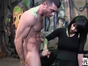 Arena Rome Caught a New Slave LANCE HART PANTYHOSE EDGING