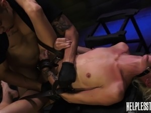 Skinny blonde with tiny tits Halle Von can't get enough hardcore sex