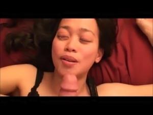 beautiful asian facial 15 pov huge load