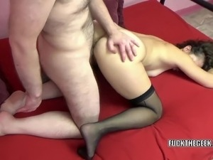 Slutty MILF Trisha Delight takes all the cum on her face