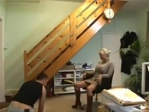 Amateur Blonde is fucked fast from behind
