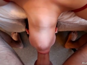 Deepthroating and awesome face fucking