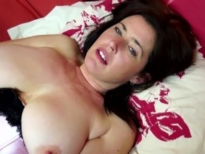 Booty and busty mature mom with hairy pussy