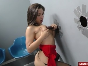 Abella Danger Gets The Biggest Glory Hole Cock