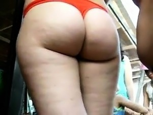 Latina With Big Bottom in Swimsuit