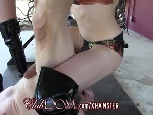 Femdom Mistresses Pegging His Ass