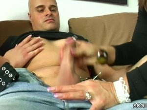 German Big Tit Teen Seduce Couple to Fuck with Her