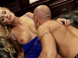 Blonde with lots of makeup getting humped in various positions