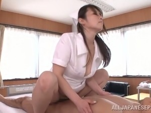 Naughty Asian Nurse Hana Nonoka Having Fun Fucking a Patient's Boner
