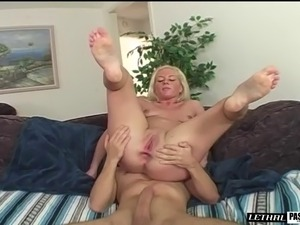 A very pretty blonde wants Andrew's cock inside her tight asshole