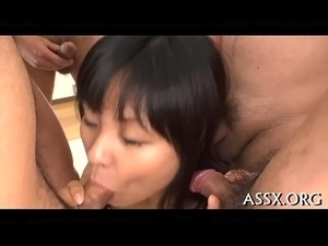 Erotic oriental vagina shaving and anal sex