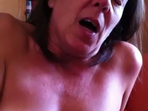 Mature slut moaning wild riding my dick in a cowgirl pose