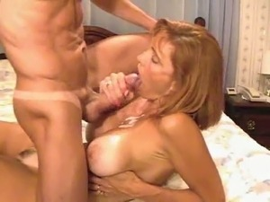 Hot college teacher MILF sucks my young cock with pleasure