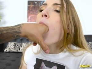 Amber Gray pussy fingered then worked on hardcore superbly