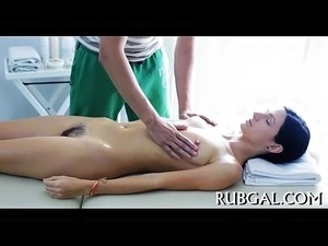 Naked oil massage