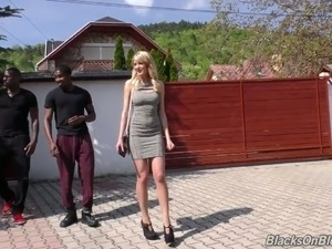 Petite Bree Haze exploited by two mandingos in hardcore DP scene