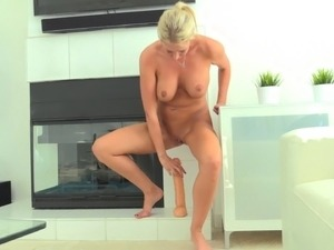 Exploiting her big sex toys wasting her slippery pussy