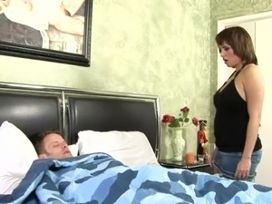 Hot sex scene with a busty brunette angel Sophia Mounds