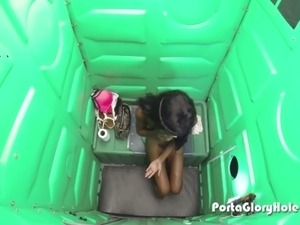 Porta Gloryhole indian girl gets bad while sucking strangers cocks