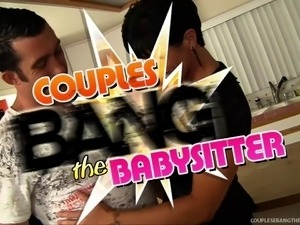 Babysitter's First Threesome!
