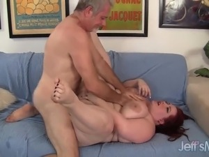 Fat Redhead Gobbles a Dick and Gets Fucked Hard