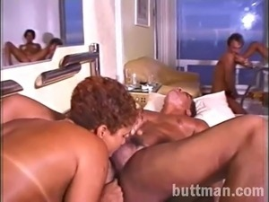 Hot Latina babes with brazilian waxes getting slammed in orgy