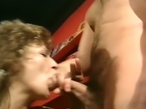 Filthy and meaty white milf having hardcore threesome