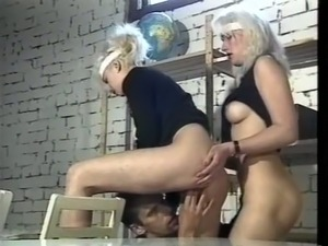 Two sporty naughty college girls masturbating with sex toys