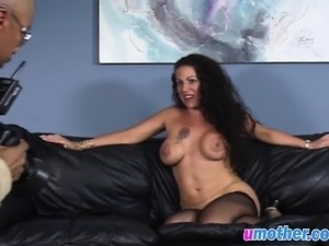 Busty MILF gets fucked by black dick