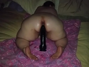 Big butt bbw huge dildo queen