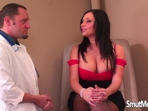 Brunette milf at a doctor's reception