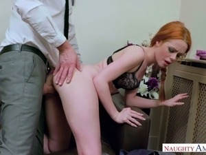 Hot ginger babe Ella Hughes gets fucked like never before