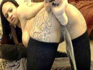 Big Tits Big Ass Ebony Deepthroats Dildo