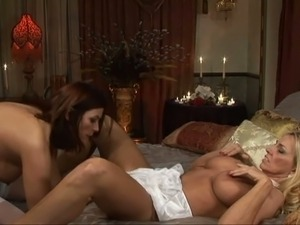Time worn lesbian women pleasing each other in kinky porn clip