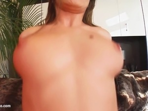 Big boobed Rita gets her tits fucked gonzo style on Prime