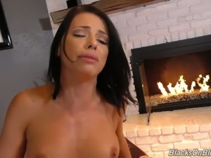 There's such a thing as too big for the hottest cock slut Adriana Chechik
