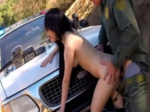 Police facial This Russian inexperienced biotch thought she could snea