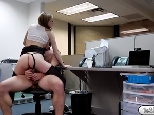 Pretty babe Ava Hardy getting fucked by her office mate