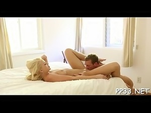 Massage with from behind fucking