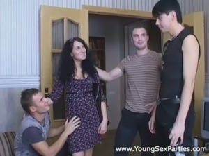 Torn European slut is exploited in hardcore gangbang