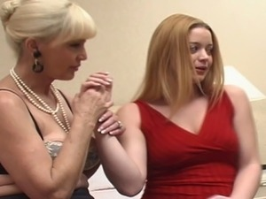 Sapphic grannies invite a college girl for a salacious threesome