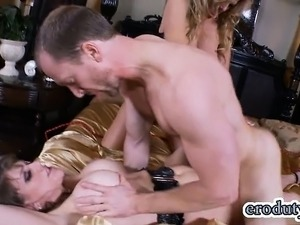 Big tits pornstar threesome and cumshot