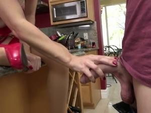 Flirty MILF Alana Cruise is enjoying some wild fuck session in the kitchen