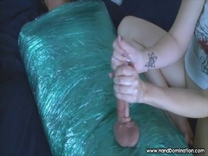 mummification femdom handjob