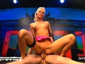 Blonde German Teen gets Cum covered - German Goo Girls!