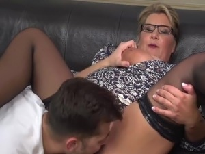 Hot Milf fucking with a Younger Boy