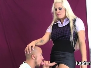 Chicks drill lovers anal with massive strapons and squirt se