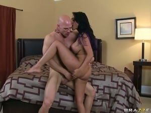 Exotic brunette babe Priya Anjali Rai rides man in vertical position